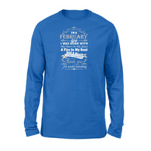 Load image into Gallery viewer, I'm A February Girl I Was Born With My Heart On My Sleeve Shirt - Standard Long Sleeve