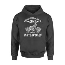 Load image into Gallery viewer, Easily Distracted By Guns And Motorcycles - Standard Hoodie
