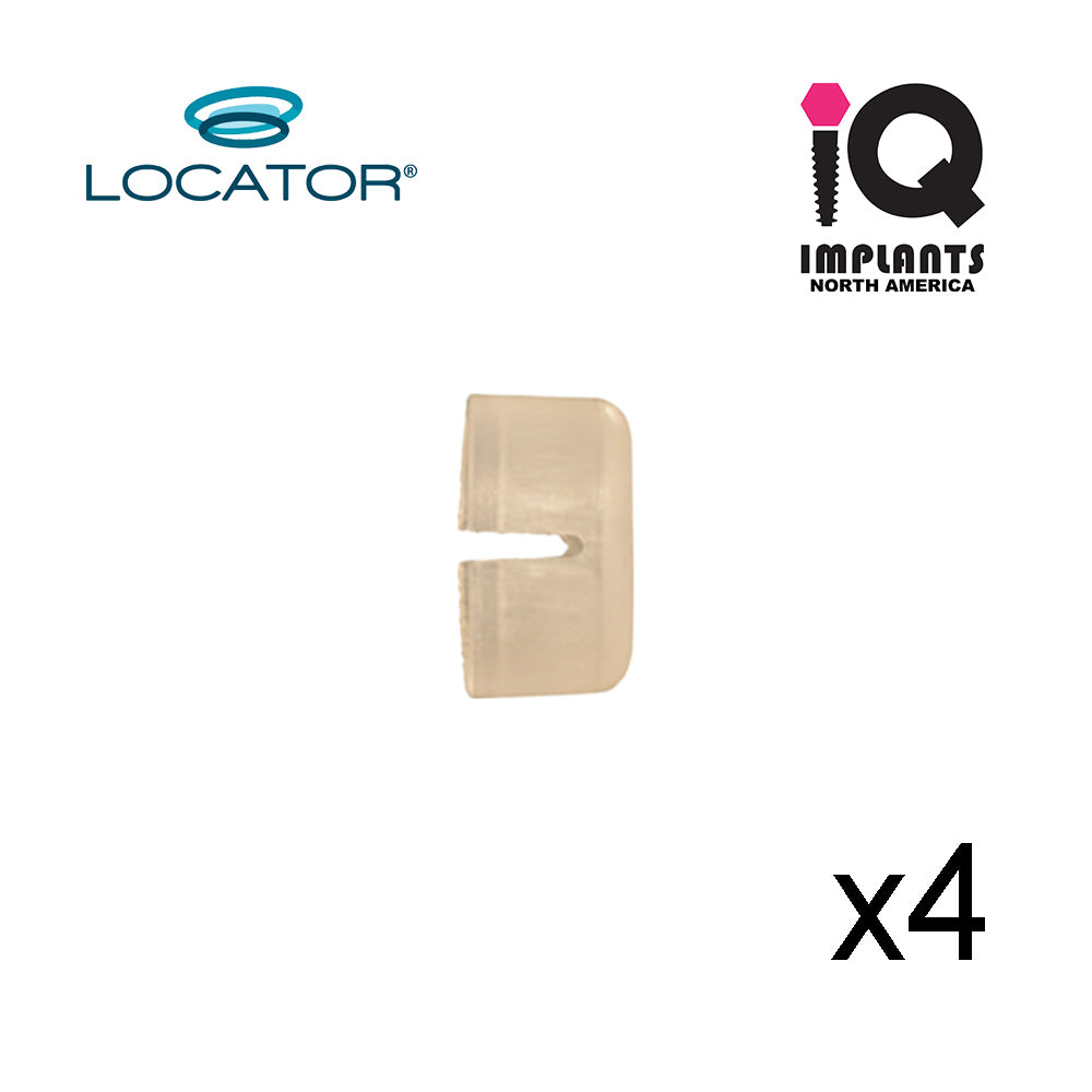 Locator Abutment Retaining Sleeve, (4-Pack)