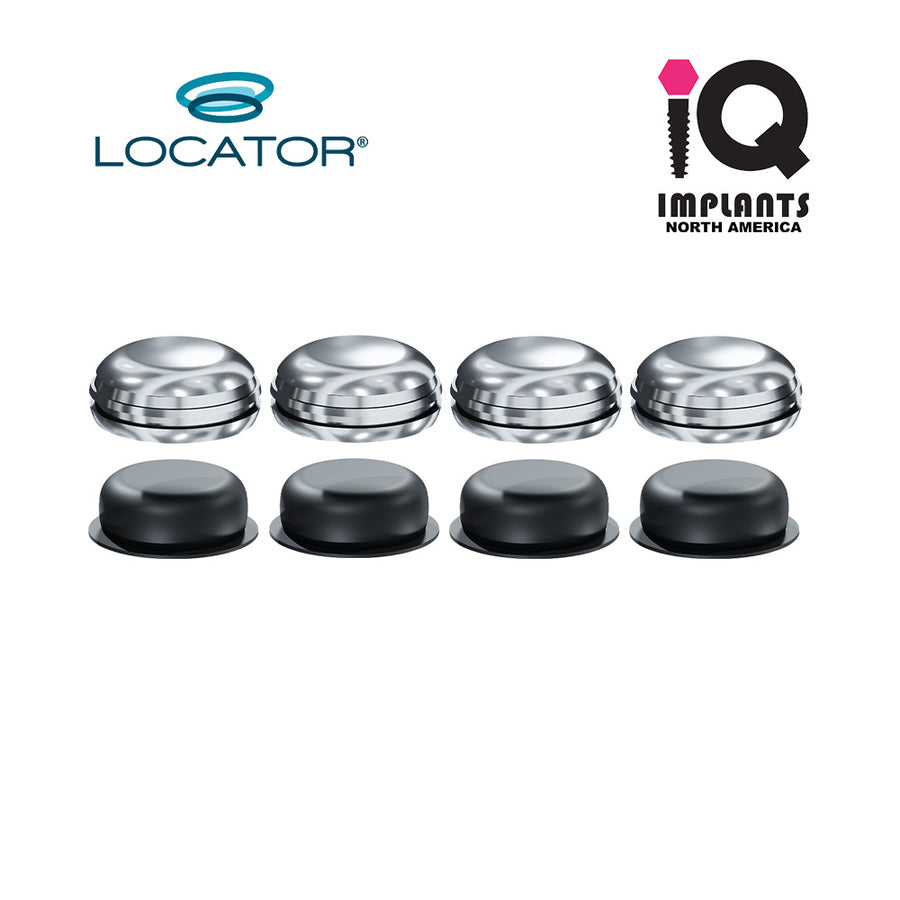 Locator Replacement Denture Cap Male Assembly (4 Pack)