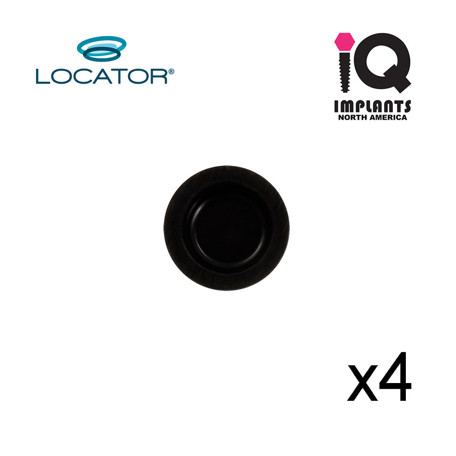 Locator Male Processing Replacement, Black (4pk)