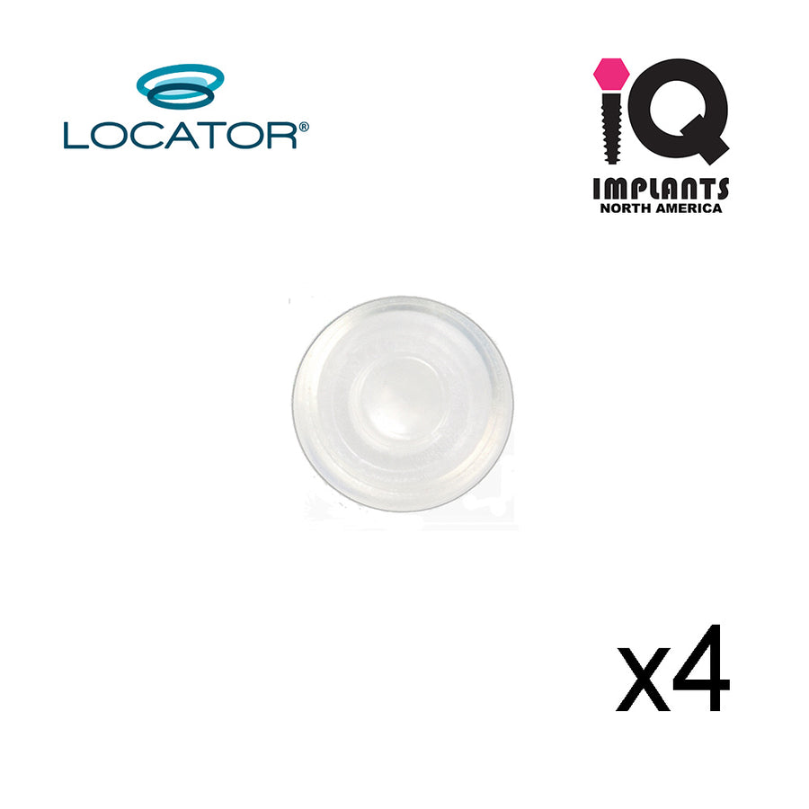 LOCATOR® Retention Insert Cap, Standard, Clear 5.0 lbs (4 Pack)