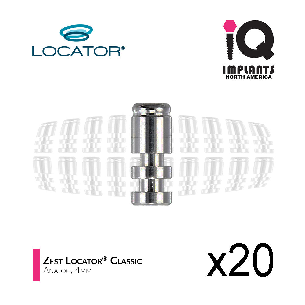 Locator Classic Female Analog, 4mm (20 Pack)