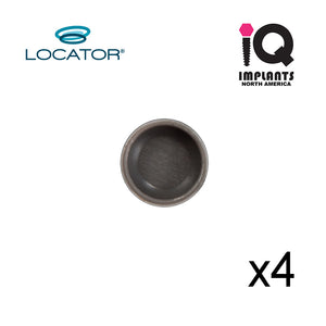 Locator Male Extended Range, Gray 0 (zero) Retention (4pk)