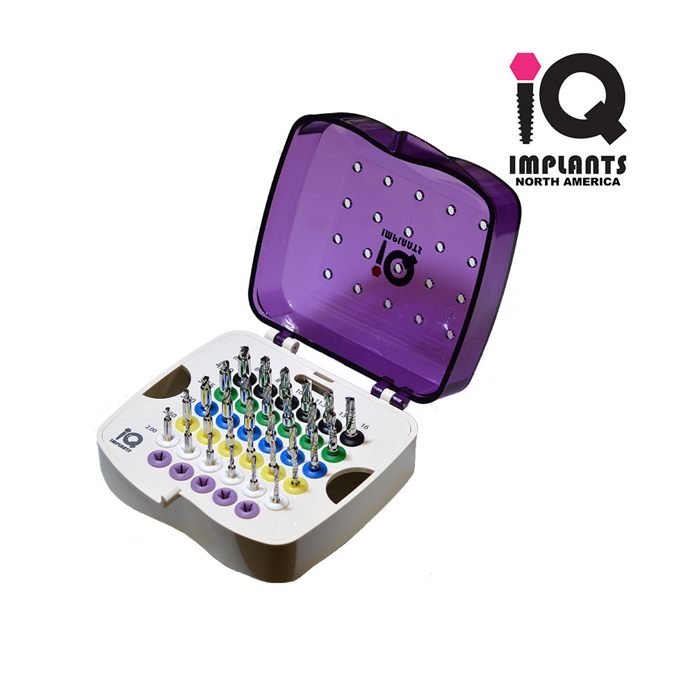 Straight Drills with Integral Stoppers, Complete Boxed Kit 30pcs