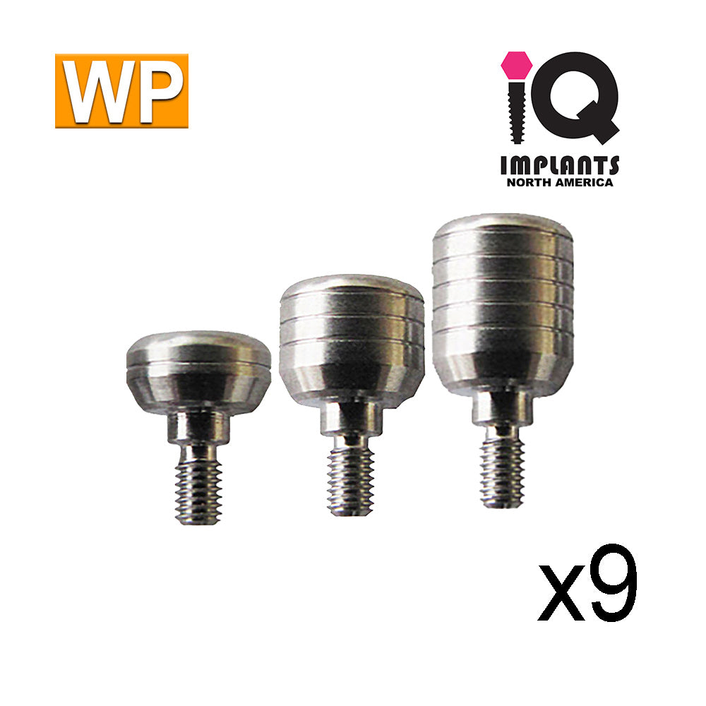Healing Cap Abutment for Wide 4.5mm platform, Variety Pack WP (9 Pack)
