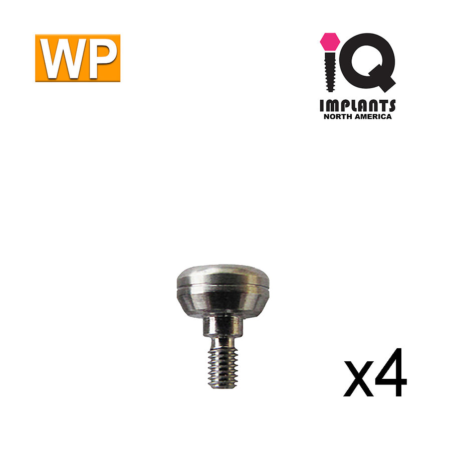 Healing Cap Abutment for Wide 4.5mm platform, 3mm WP (4 Pack)
