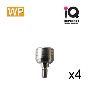 Healing Cap Abutment for Wide 4.5mm platform, 5mm WP (4 Pack)