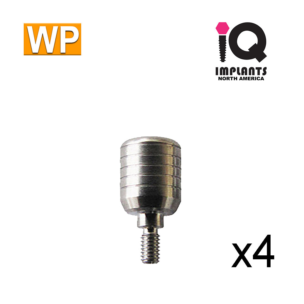 Healing Cap Abutment for Wide 4.5mm platform, 7mm WP (4 Pack)