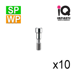 Titanium Fixation Screw for Abutments, Standard/Wide Platform (10 Pk) SP & WP