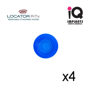 Zest LOCATOR R-Tx® Retention Insert Cap, Low Retention, Blue (4 Pack)