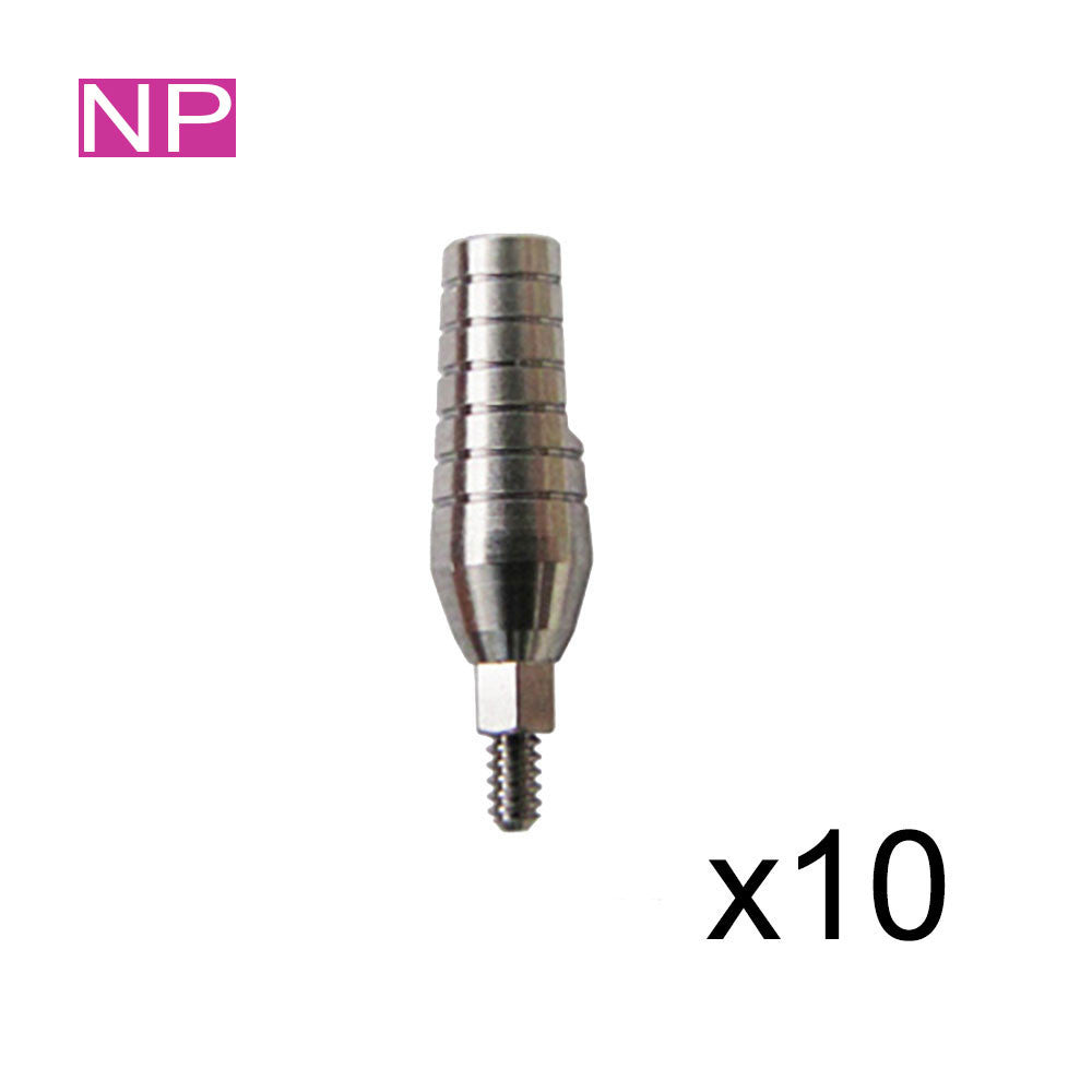 SPECIAL: 10 Straight Titanium Abutments for Narrow 3.0mm Platform