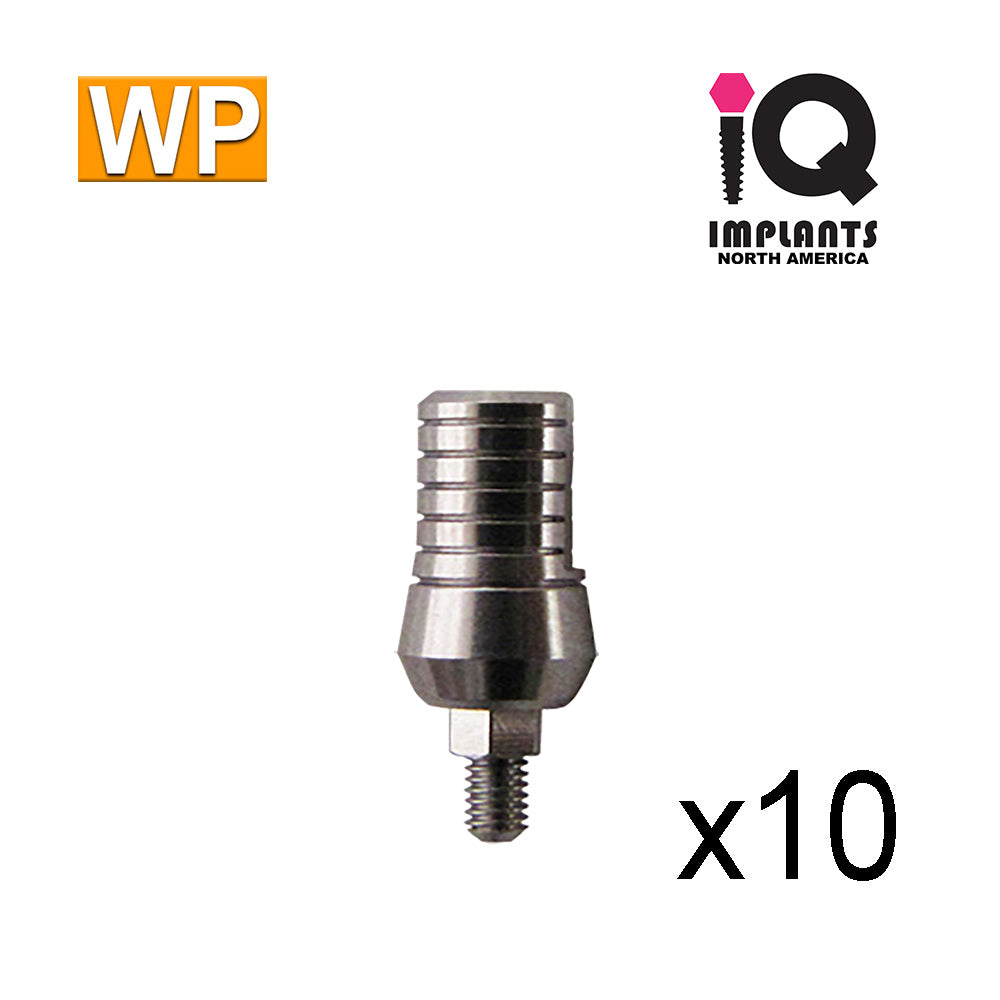 Straight Titanium Abutment,  9mm WP (10 Pack)