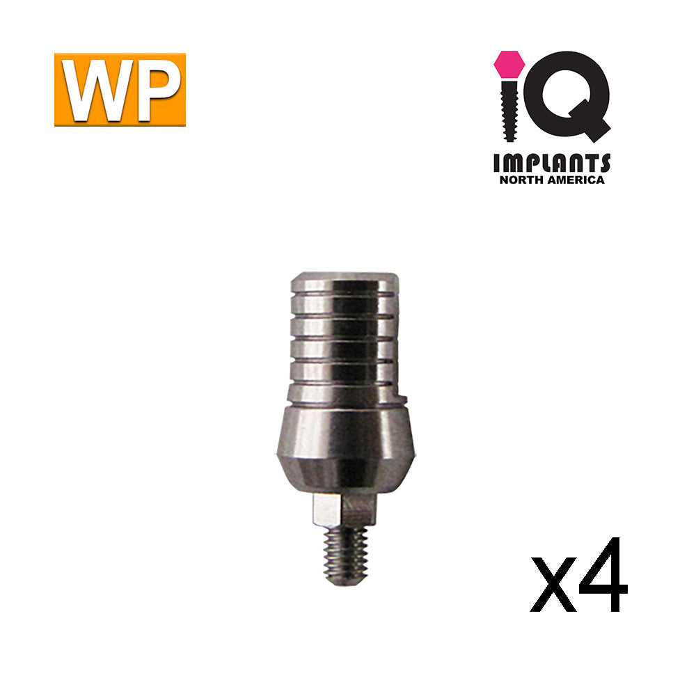 Straight Titanium Abutment,  9mm WP (4 Pack)