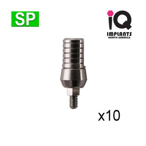 Wide Straight 9mm Abutment for Standard Platform, SP (10pk)