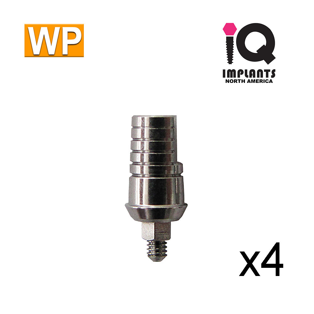 Straight Shoulder Abutment for Wide 4.5mm Platform, 1mm WP (4 Pack)