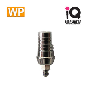 Straight Shoulder Abutment for Wide 4.5mm Platform, 1mm WP