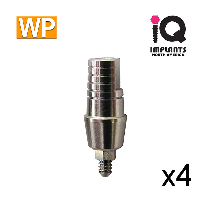 Straight Shoulder Abutment for Wide 4.5mm Platform, 4mm WP (4 Pack)