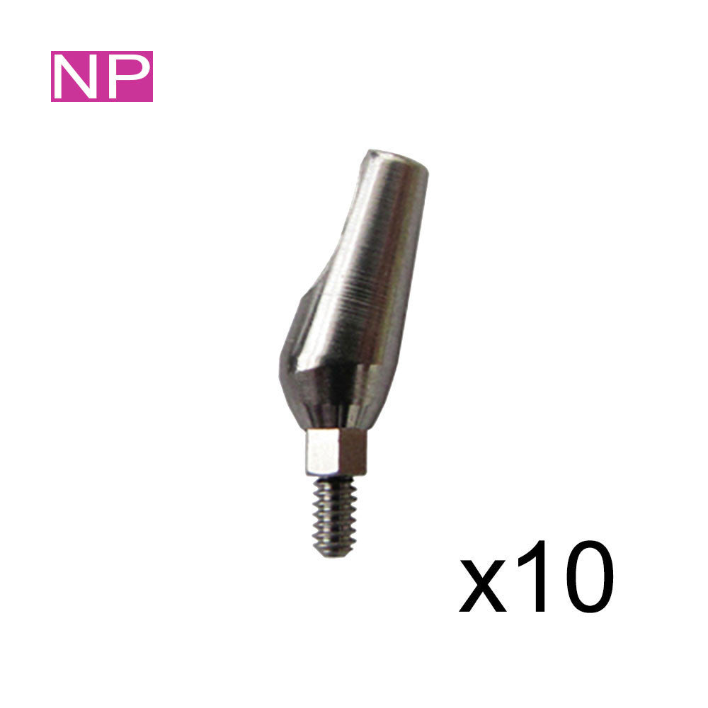 SPECIAL:  10 of 15° Angled Titanium Abutments for Narrow 3.0mm Platform