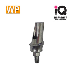 Angled Anatomic Shouldered Abutment, 15°  2mm Cuff WP
