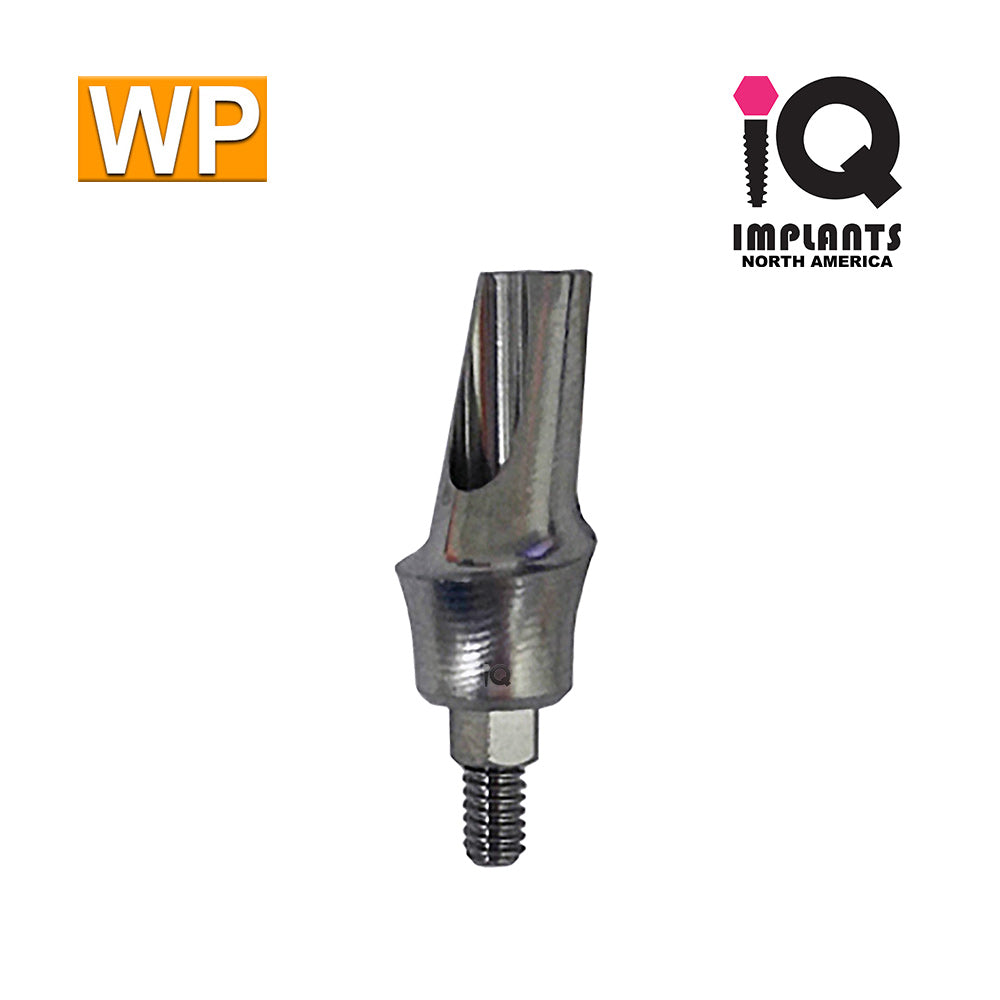 Angled Anatomic Shouldered Abutment, 15°  3mm Cuff WP