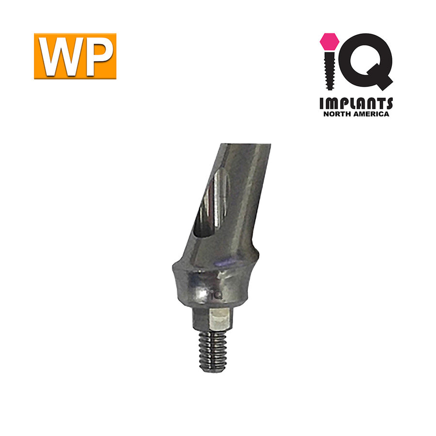 Angled Anatomic Shouldered Abutment, 25° 2mm Cuff WP