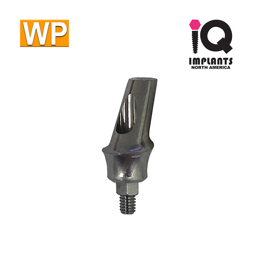 Angled Anatomic Shouldered Abutment, 25° 3mm Cuff WP