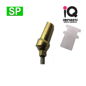 Snap-On Abutment, 25º Angled 1mm Shoulder with Transfer SP