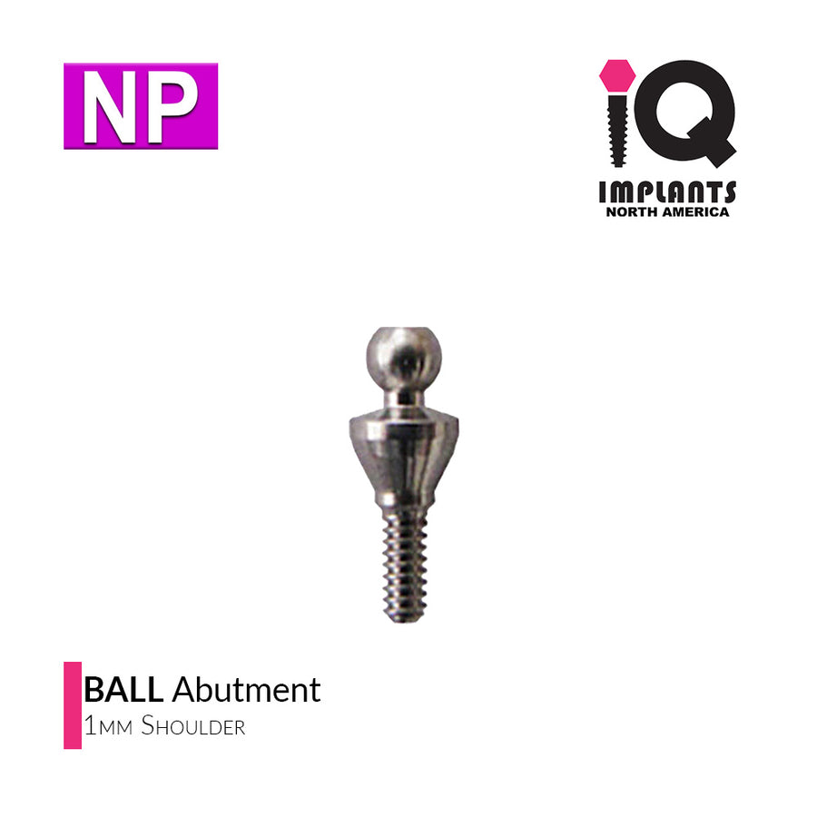 Ball Abutment, 1mm NP
