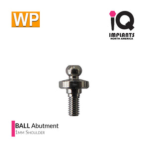 Ball Abutment, 1mm WP