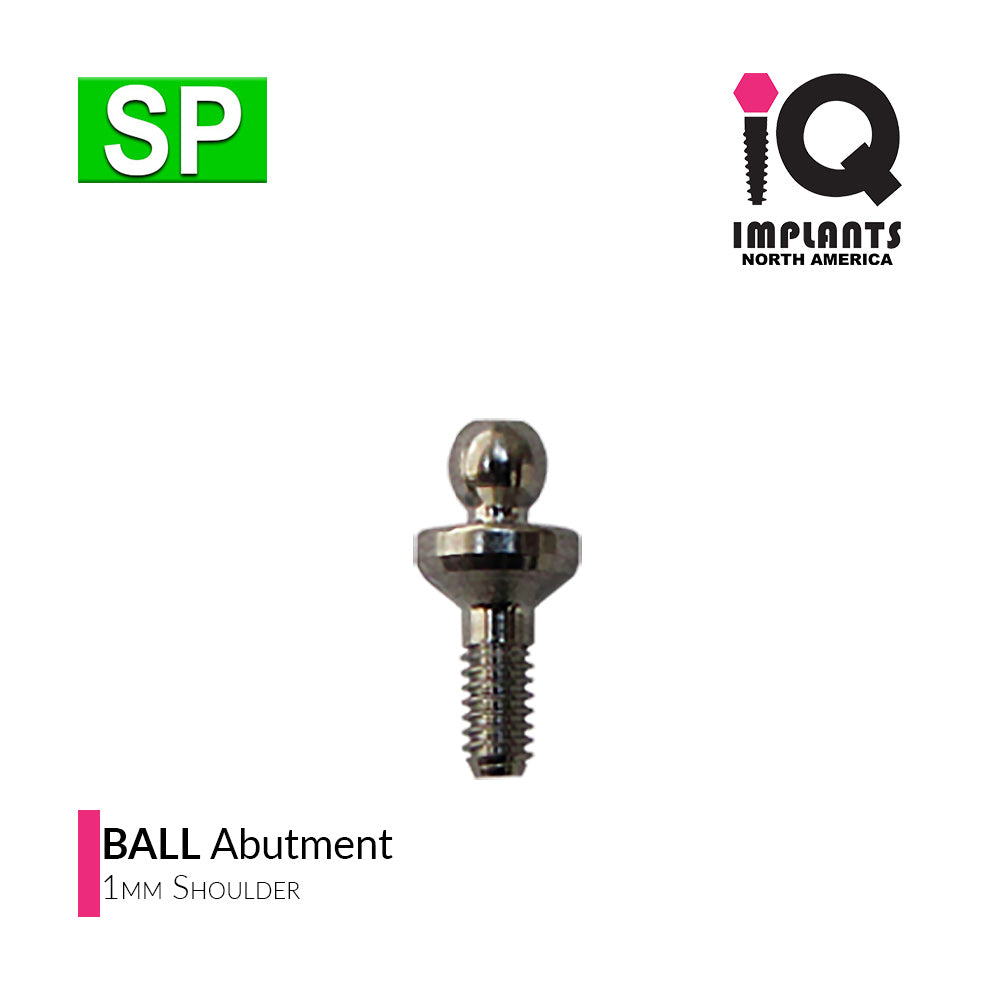 Ball Abutment, 1mm SP