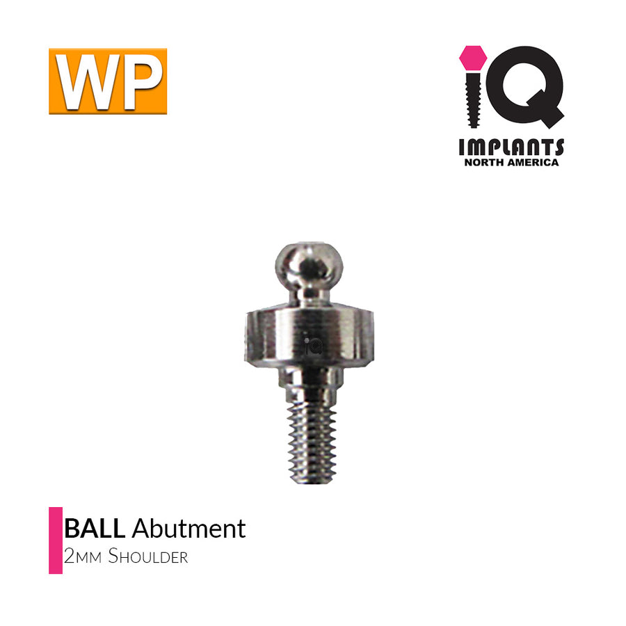 Ball Abutment, 2mm WP