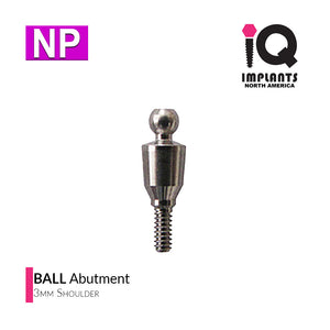 Ball Abutment, 3mm NP
