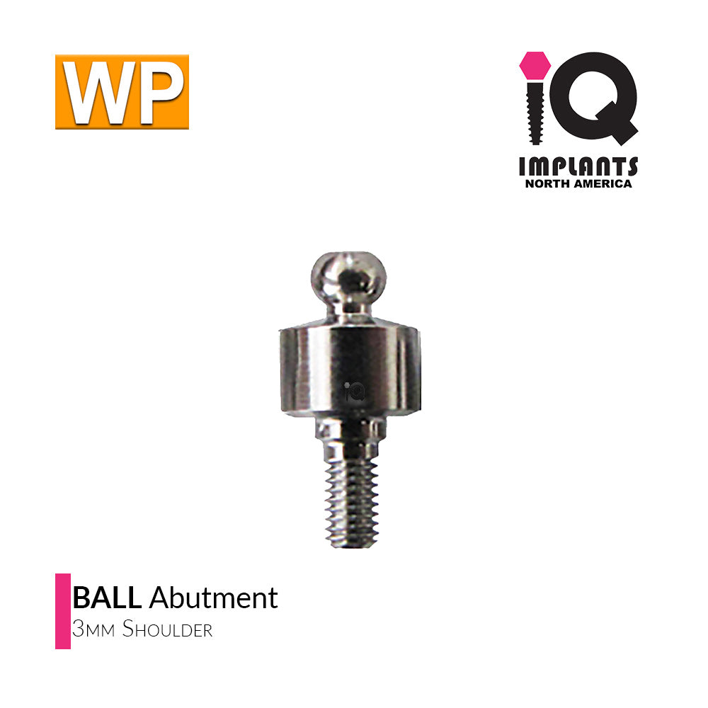 Ball Abutment, 3mm WP