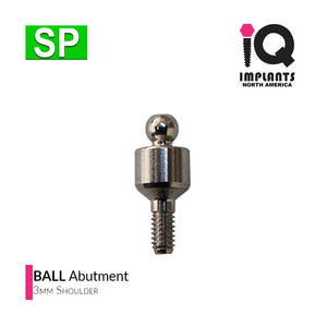 Ball Abutment, 3mm SP