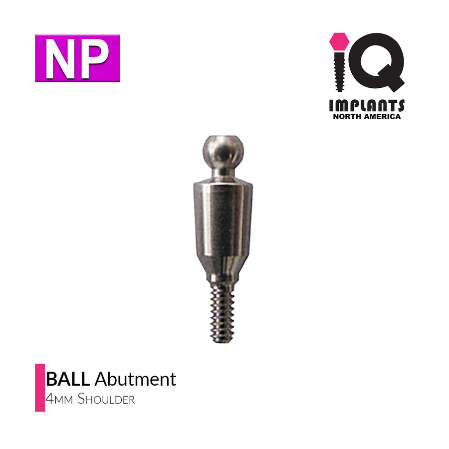 Ball Abutment, 4mm NP