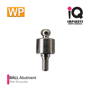 Ball Abutment, 4mm WP