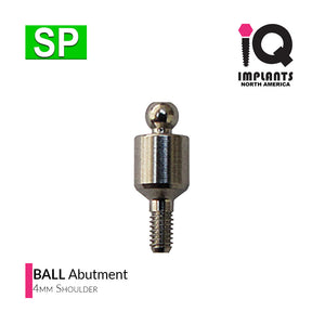 Ball Abutment, 4mm SP