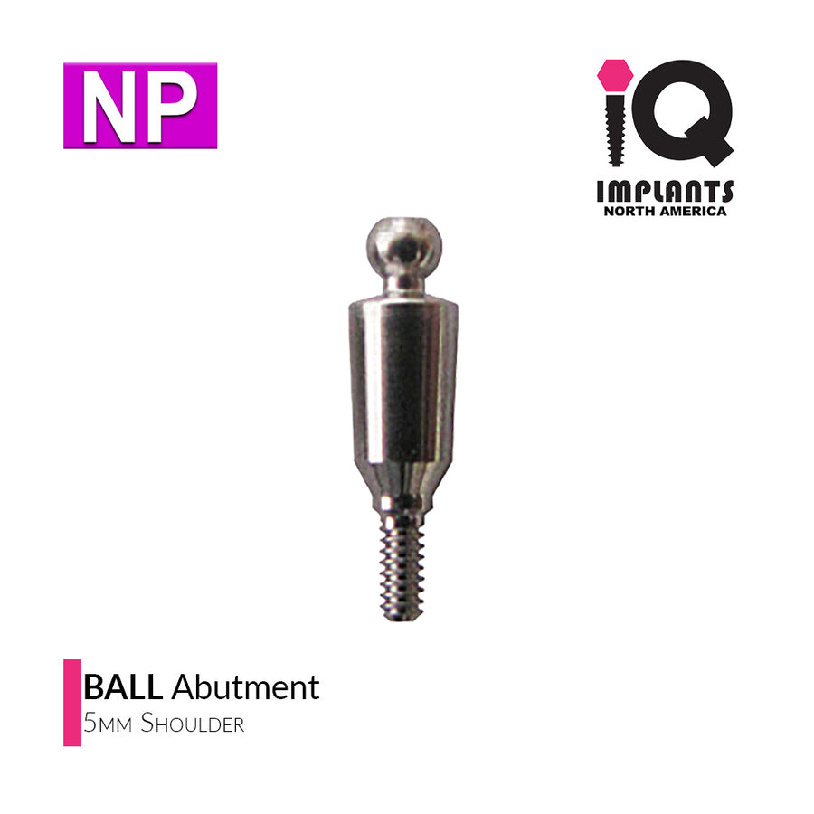 Ball Abutment, 5mm NP