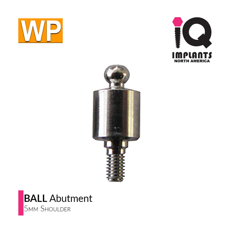 Ball Abutment, 5mm WP