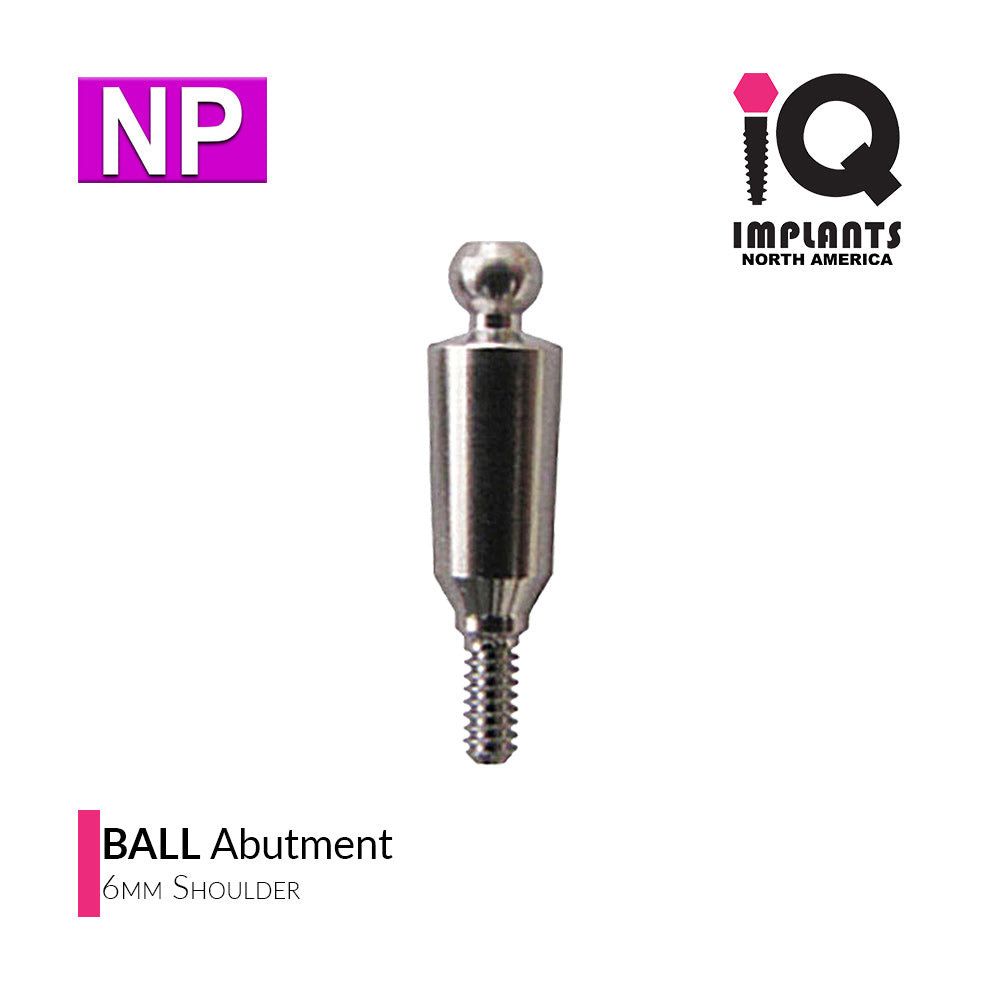 Ball Abutment, 6mm NP