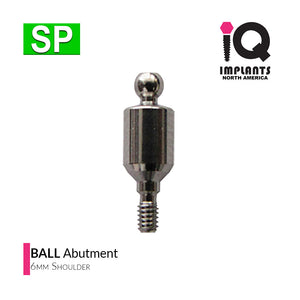 Ball Abutment, 6mm SP