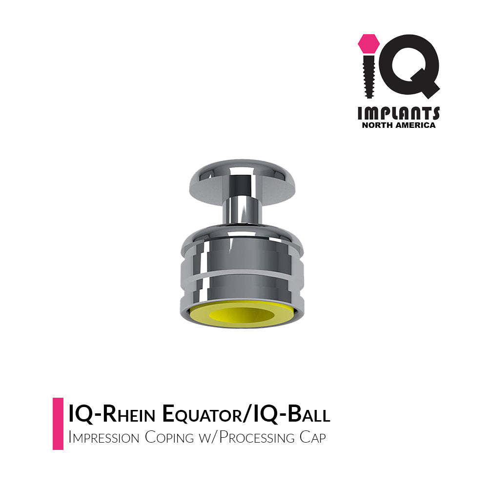 IQ-Rhein/IQ-Ball Impression Coping w/Exchangeable Processing Cap (4-Pack)