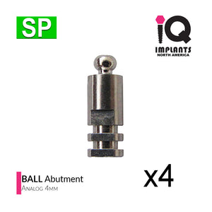 Ball Abutment Female Analog, 4mm 4-Pack (SP)