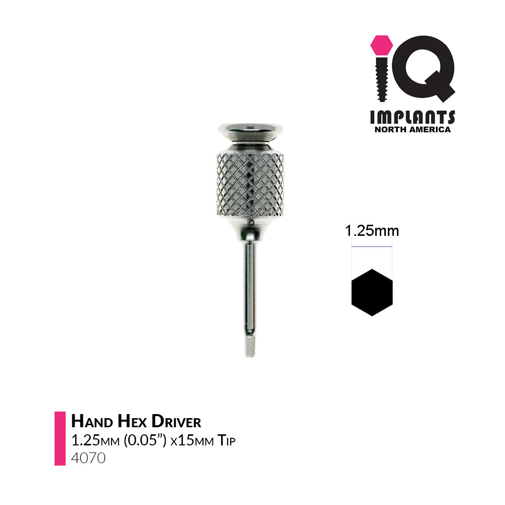 Hand Hex Driver, 1.25mm x15mm