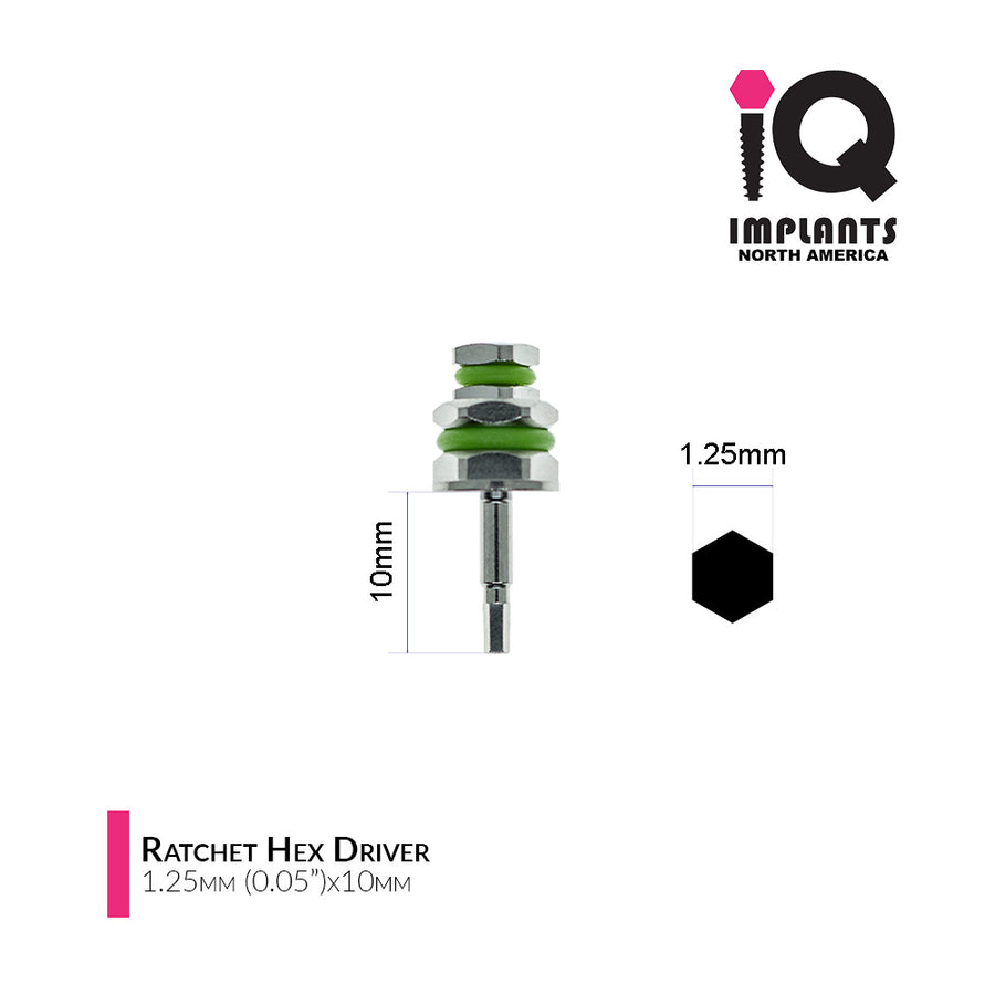 Hex Driver for Ratchet, 1.25mm x10/15mm (2-Pack)