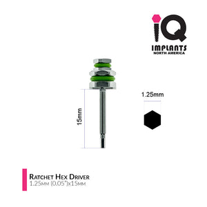 Hex Driver for Ratchet, 1.25mm x15mm