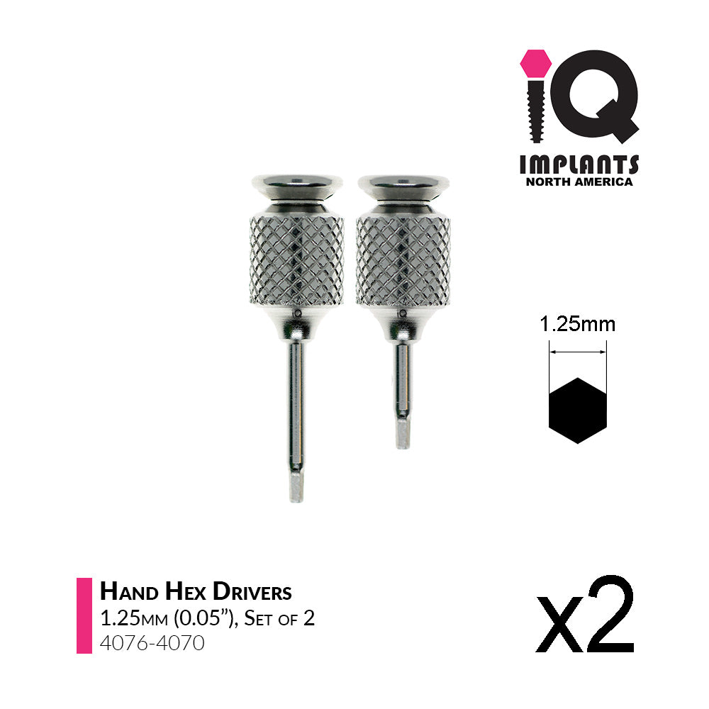 Hand Hex Driver,  1.25mm x10/15mm (2-Pack)