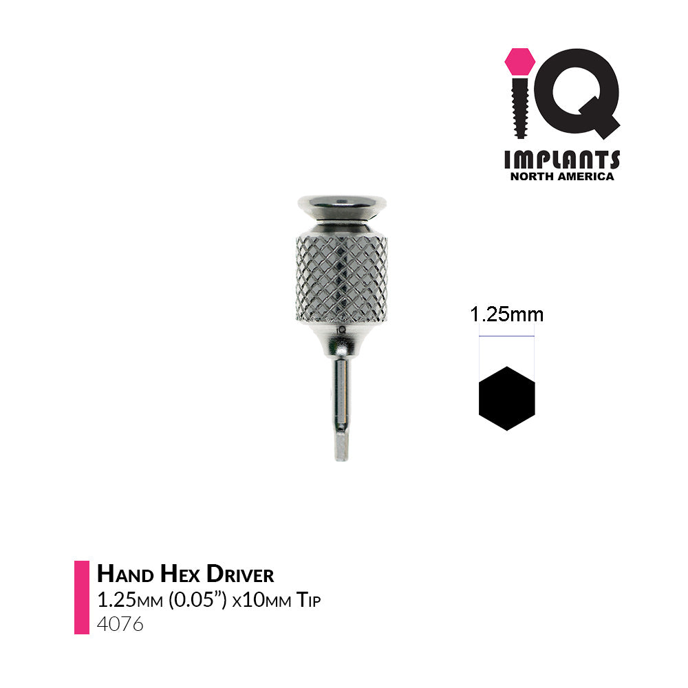 Hand Hex Driver,  1.25mm x10mm