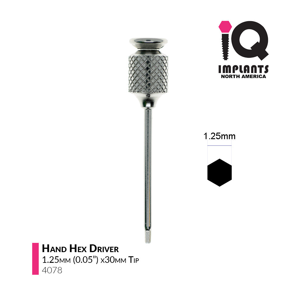 Hand Hex Driver, 1.25mm x30mm